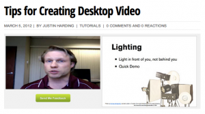 Tips for Creating Desktop Video