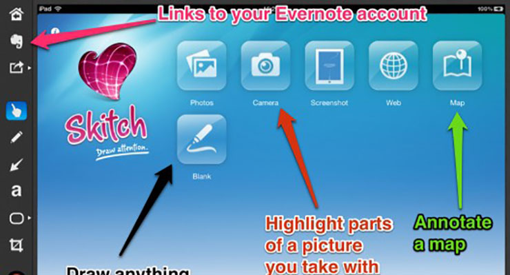 iPad Apps for Content Creation: Skitch