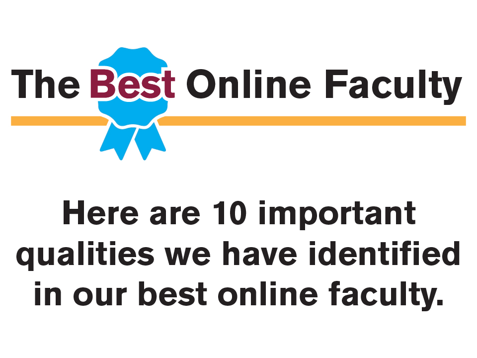 The Best Online Faculty